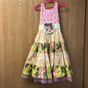 Giggle Moon Floral Tank Dress Size 7